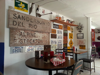 Lunch was in Sanderson at the Eagles Nest Cafe.  Same place we stopped in 2012.