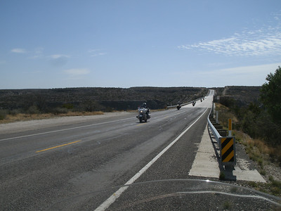 Crossing the Pecos Bridge.