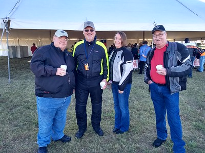Rex, Mark, Sheryl, and Gary representing the Lone Star Riders
