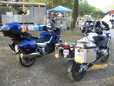 Jeff's FJR1300 and my R1200 GS Adventure.