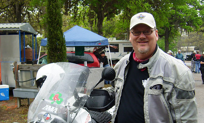 Yours truly on a damp Saturday morning before the poker run departure.