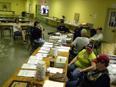 Our Houston MTA Chapter 1 rally hosts at Friday registration.  Good times!
