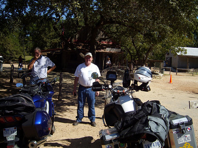 Chuck and Jeff in Luckenbach.