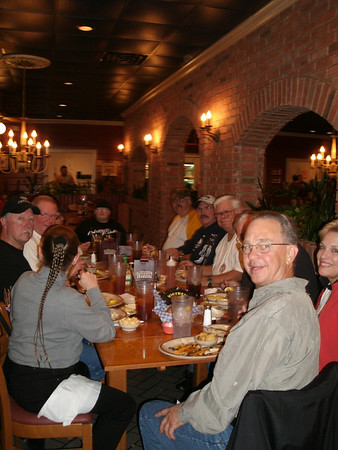 2009 Dying Leaf Ride.  Dinner at the Dixie Cafe Russellville.