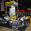 Touratech booth on press day lacking the throng of particpants that would flood the show the following day.