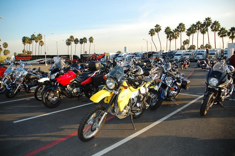 Jack amidst the sea of press bikes.