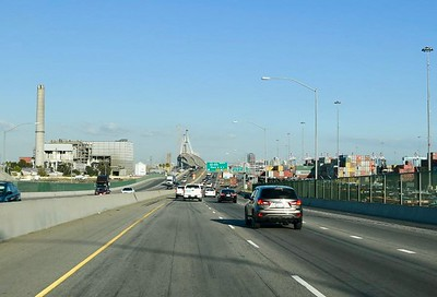 The ride into Long Beach and the progress of the new bridge.