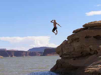Zack jumping into Lake Powell