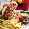 Even blurrier photo of the Sawyer Burger.