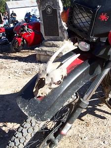 Front fender detail of the desert rat.