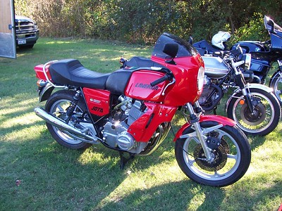 A Laverda Jota in the motocycle show.