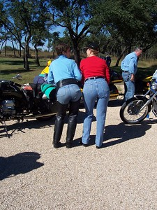 """Typical """"biker chick"""" behavior... one woman acts uninhibited, then next thing you know they ALL have to join in!"""