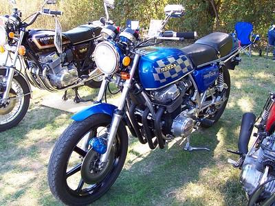 A nice custom-painted Honda CB 750.