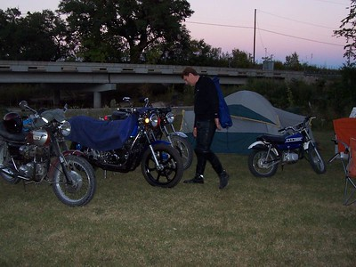 """TWT member """"Bowillyard"""" checks out the campsite before the Saturday night dinner and movie."""