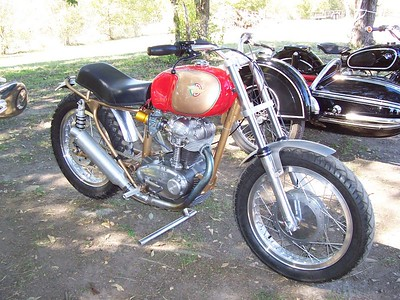 A nicely restored Ducati single.