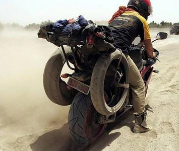 Sjaak Lucassen, Around the world on a sport bikes 7 times already..
