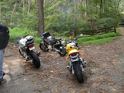Nice asses!  I think between all three bikes we had just about every mod convered!