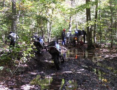 The puddle that almost swallowed the KLR!