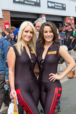 Pirelli pit lane girls.