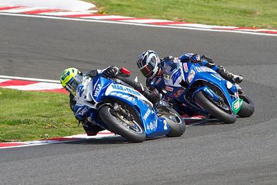 2 Glenn Irwin, Yamaha 600; 22 Jason O'Halloran, Honda 600, Brittens, Supersport Championship.