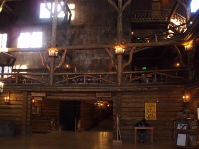 Inside historic Old Faithful Lodge