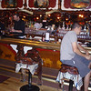 Inside Cowboy Bar in Jackson, WY.  Thats my saddle and Budwieser!