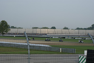 Bikers taking a lap around track