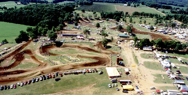 Red Bud National Motocross Track Taken from the air by Larry Hughey in a helicopter ride.