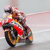 Marc Marquez hard charging int he wet COTA 2015 FP2