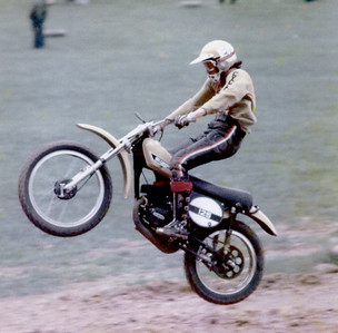 Larry Hughey,TM 125 Suzuki riding at Little Big Horn in Bloomington,IN