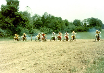 In the middle on a 1978 Maico 250