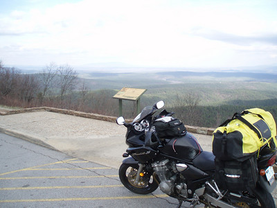 One of the many overlooks on Talimena Scenic Drive.
