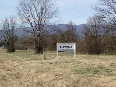 Havana, Arkansas with Mt. Magazine in the background