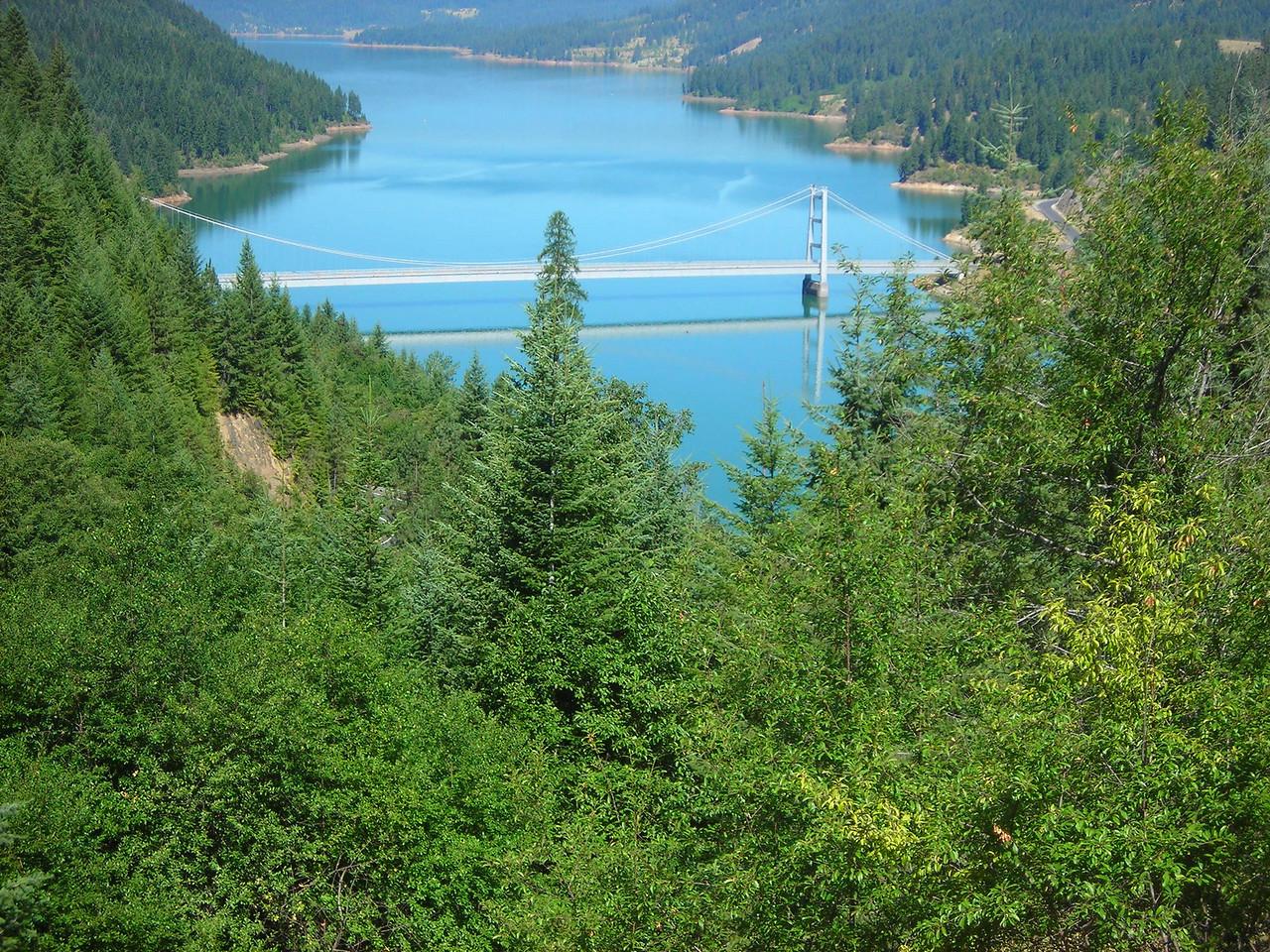 Dent Bridge and Dworshak Reservoir