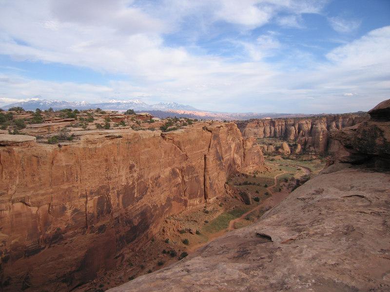 Looking down into Bull Canyon from Gemini Bridge