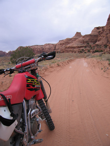 My bike in the Bull Canyon sand