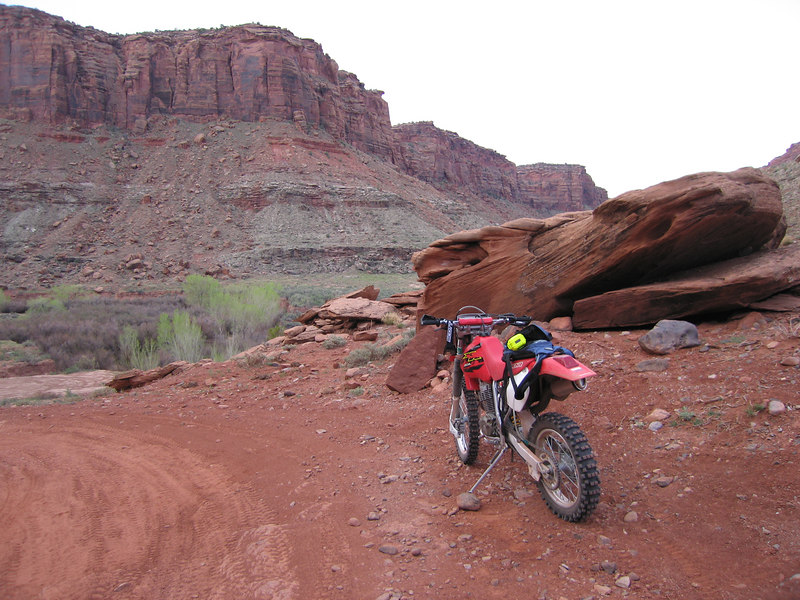 My bike in Kane Creek Canyon