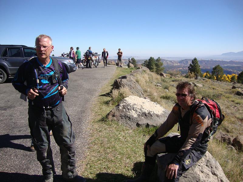 Overlook near ChokeCherry Trail Day 4 - Jim, Johnnie