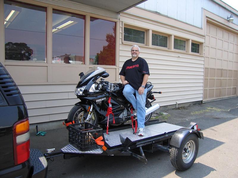 Picking up the bike at Salem Honda/BMW/Ducati in Salem, OR.  <br /> America's next top model I'm not!
