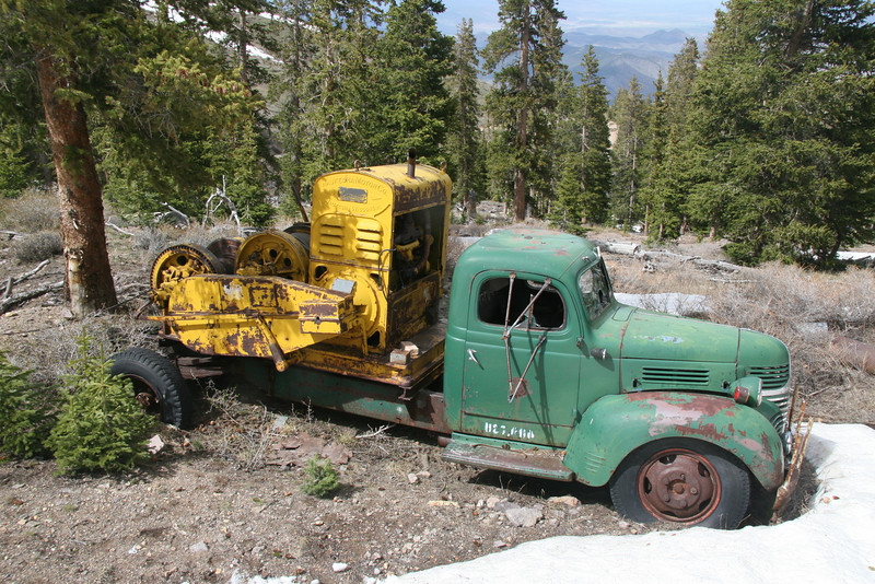 At 10.8K feet elevation this 1940 Dodge winch truck is very well preserved.  Even the doors open and close properly.