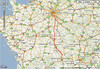 First day ride : From Paris to Gannat, 421 km, 262 miles
