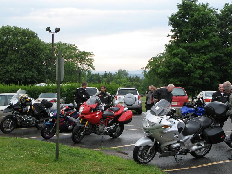 A gaggle of bikes