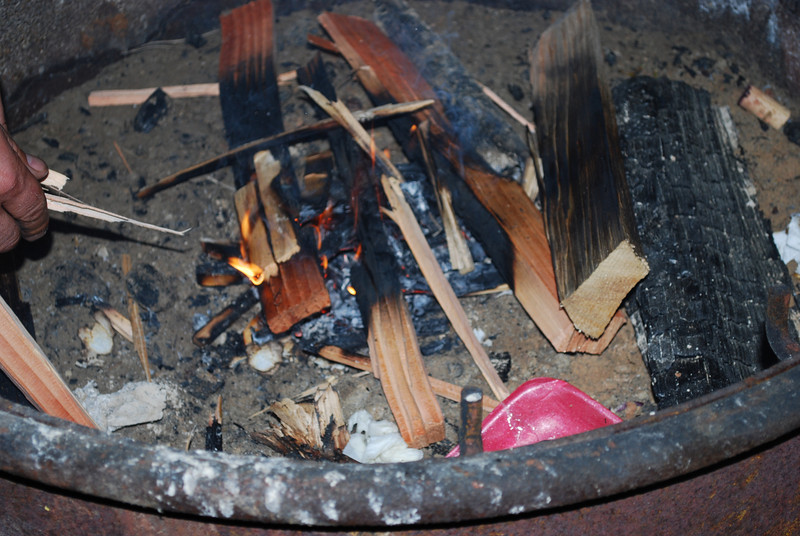 fire out.................!<br /> We decided to retire for the nite.