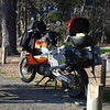 We made it to Salt Point and unpacked the bike. Salt Point is on the North coast of Cali, just south of Stewarts Point.