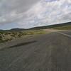 Start of cold wet highway 50 across nevada