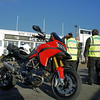 1/2: Multistrada 1200 Ace Cafe meeting for Martha Care Dimitri's Ride charity event