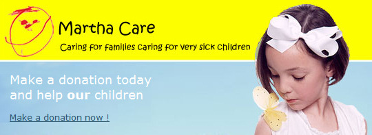 <b>Donate now: http://www.justgiving.com/marthacaretrust</b> Martha Care provides specialist help, advice and support to families caring for a very ill or injured child in hospital: from  housing to holidays, employment to parking, siblings to grandparents. Whatever a family needs to ensure they can concentrate on caring for their child, Martha Care will look for ways to alleviate the hardships caused by caring for a child in hospital.