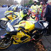 Dimitri and his Dad admire Glenn Wheals' yellow machine whilst Dad points out Maggie is taking a photo