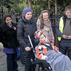 Dimitri arrives to meet us, in his specialist wheel chair pushed by Mum