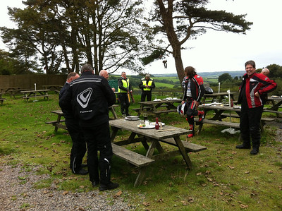 Lunch at the Old Station Inn, Blackmoor Gate